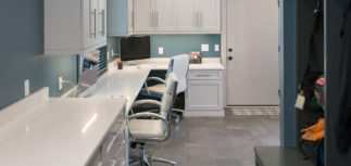 Energizing office and mud room